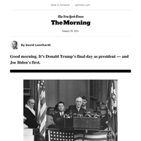 The Morning: Inauguration Day