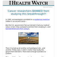Cancer researchers BANNED from studying this breakthrough?!