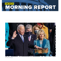 The Hill's Morning Report - 1/ President Biden calls for unity, reverses Trump policies on coronavirus, immigration, climate with executive pen. 2/ Vice President Harris sets to work as power player for narrow Dem clout in Senate. 3/ Biden gains one