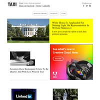 White House revamps website to be more inclusive; Scientists redesign Velcro to be quieter; LinkedIn launches free-to-use marketing labs with advertising & branding courses; Burberry instills sense of hope in Chinese New Year film; 'Girl With A Pear
