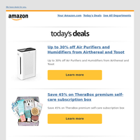 Up to 30% off Air Purifiers and Humidifiers...