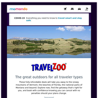 Fully-refundable deals from TravelZoo