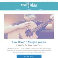 Luke Bryan, Morgan Wallen, Motley Crue's The Stadium Tour, and more on sale now!