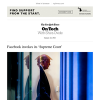 On Tech: Facebook invokes its 'Supreme Court'