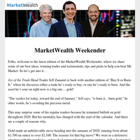 Weekender: 3 Stocks Set to Soar in 2021... and 1 Asset to Burn — Gold!