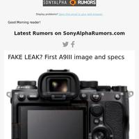 SonyAlphaRumors Newsletter