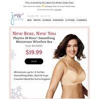 NEW Playtex 18 Hour Minimizer to Size 44DDD for $19.99