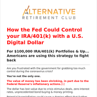 Important – IRA or 401(k) Alert! Your retirement money may not be worth what you think.