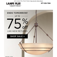 Last Chance! Up to 75% Off These Deals!