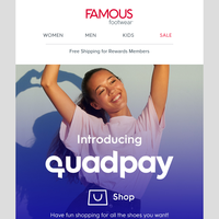 NEW! Pay later with QuadPay 🎉