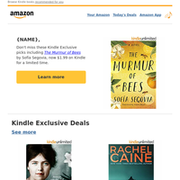 {NAME}: This week's Kindle Exclusive books