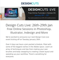Join Us For Design Cuts Live: Free Online Sessions In Photoshop, Illustrator, Indesign & More