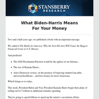 What Biden-Harris Means For Your Money
