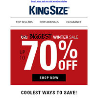 Reminder! Up to 70% off = our biggest sale of the season!