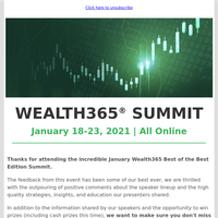 🎁 Gifts from Wealth365 and a big thank you!