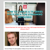 Put Together a TV Series Pitch Deck for Streaming Networks