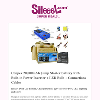 Charge All Your Devices & Jump Start Your Car Battery With Today's Main Deal! Don't Miss Out!