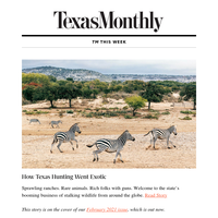 Weekly Roundup: How Texas Hunting Went Exotic