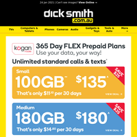 Ends 31/1 : A Year of Kogan Mobile Just $135