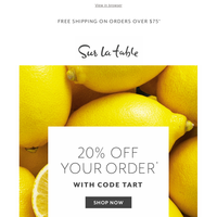 One zesty deal: 20% off your order.