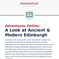 This VIRTUAL adventure brings you to Edinburgh, Scotland!
