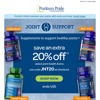 ENDS TODAY: Extra 20% OFF Joint Products