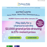 You could be one of our daily instant winners