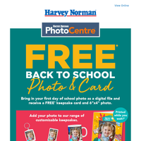 FREE* Back to School Photo and Card.