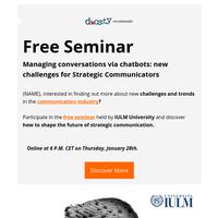 Seminar January 28th 📅 Scholarships to study in Italy