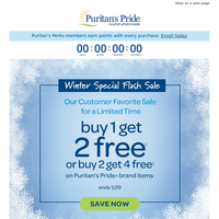 Time to Buy 1 Get 2 Free (48 Hours Only)