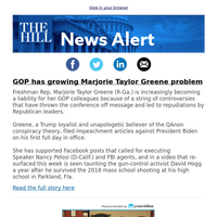 News Alert: GOP has growing Marjorie Taylor Greene problem