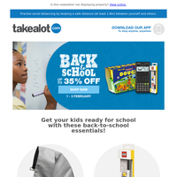 Get up to 35% OFF back-to-school essentials! ✏️ 📚 🖊️