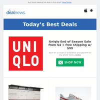 Uniqlo End of Season Deals from $4 | Ultrawall 48x36"|200|200|?|48eadc9ca7275a3c2eecb4f136f3d996|False|UNLIKELY|0.3472909927368164