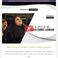 New Tasha Cobbs Leonard Video & Conference Announcement Coming Soon!