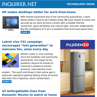 "Technology News: HP makes desktops better for work-from-home; Latest vivo Y31 campaign encourages ""lost generation"" to welcome fun, seize every day; 43 Unforgettable lines from Romantic Movies to watch at home on Valentine's Day"