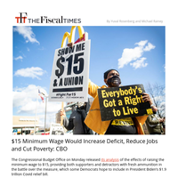 $15 Minimum Wage Would Cost Jobs, but Cut Poverty: CBO