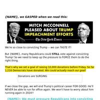 McConnell to REMOVE Trump❓