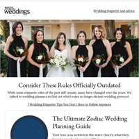 Wedding Etiquette You Don't Have to Follow Anymore