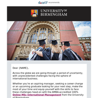 {NAME}, define your future with University of Birmingham online