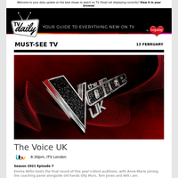 Don't miss: The Voice UK at 8:30pm on ITV London