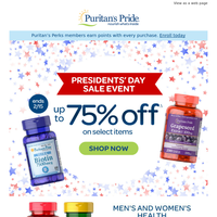 Up to 75% off⭐Presidents' Day Sale