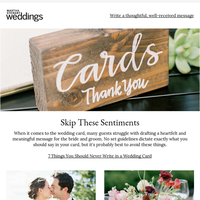 7 Things You Should Never Write in a Wedding Card