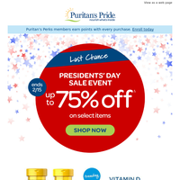 **LAST Day: Up to 75% off