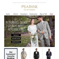 Everything you need for your wedding planning. Custom Suits, Dress Shirts, and more.