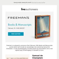 Freeman's | Books & Manuscripts
