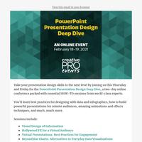 ⏰Last chance—ThePowerPoint Presentation Design Deep Dive kicks off Thursday!