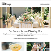Backyard Wedding Ideas to Make Your Own