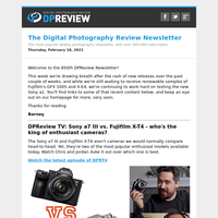Digital Photography Review Newsletter: Thursday, February 18, 2021
