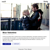 This week on MUBI: Watch Blue Valentine