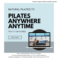 7 Day Fitness and Pilates FREE Trial